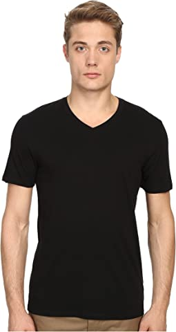 Short Sleeve Pima Cotton V-Neck Shirt