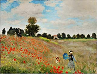Jigsaw Puzzles for Adults 1000 Piece - Poppy Flower Field Intellectual Game for Adults and Kids