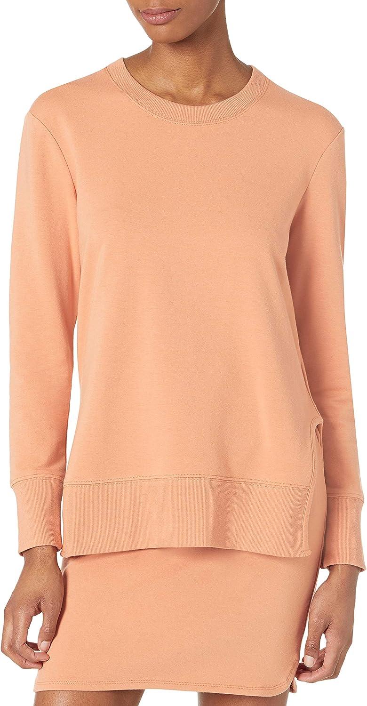 Amazon Brand - Daily Ritual Women's Terry Cotton and Modal Long Sleeve Crew Neck Sweatshirt