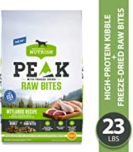 Rachael Ray Nutrish PEAK Wetlands Recipe with Chicken, Duck and Freeze-Dried Raw Bites Dry Dog Food, 23 Pounds