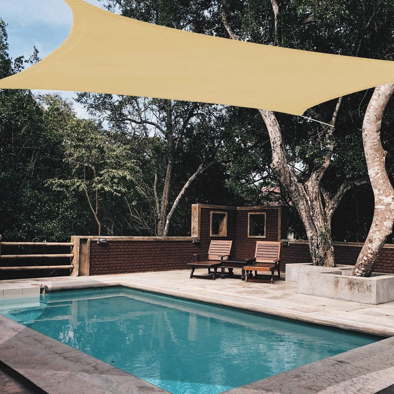SOAR Sombrillas Terraza Vela de Sombra Sun Sail Shade, Rectángulo Toldo UV Bloque Toldo, Heavy Duty Impermeable Sombras de Sun for el Aire Libre del Patio del jardín del Patio Trasero del
