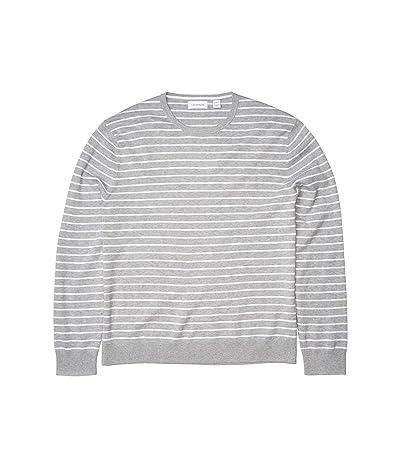 Calvin Klein Long Sleeve Liquid Touch Crew Neck Sweater (Heoric Grey Heather) Men