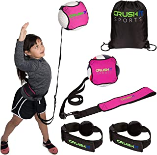 Crush it Sports Volleyball Training Equipment Aid - Practice Your Serving, Spiking, Setting and Arm Swing, Serve and Spike...