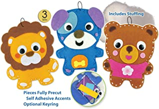 DIY Kit My First Sewing Kit for Kids Girls Boys Preschool Sewing Kits Projects  Animal Sewing Kits for Kids Craft Kits for Kids Sewing Kit Art Projects for Kids Felt Animals Sewing for Beginners 3 Pk