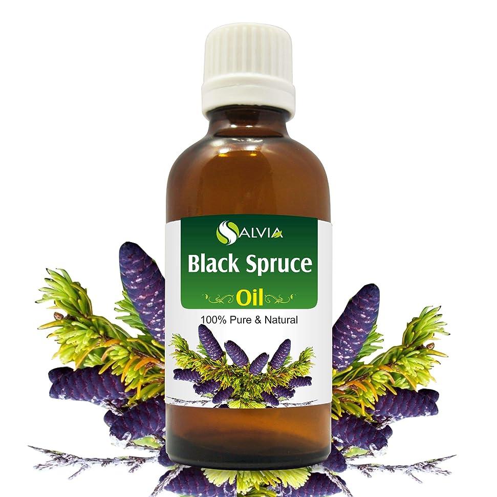 モンスター浴音楽を聴くBlack Spruce Essential Oil (Picea mariana) 100% Pure & Natural - Undiluted Uncut Therapeutic Grade Aromatherapy Oil - 50 ML