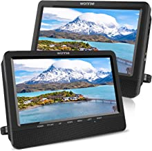 WONNIE 10.5'' Dual Screen DVD Player Portable Headrest CD Players for Kids with..