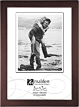 Malden International Designs Dark Walnut Concept Wood Picture Frame, 5x7, Walnut