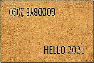 MOMOBO Funny Doormat with Rubber Back -Hello 2021 Goodbye 2020 Door Mat Fall Doormat Entrance Way Doormat Non Slip Backing...