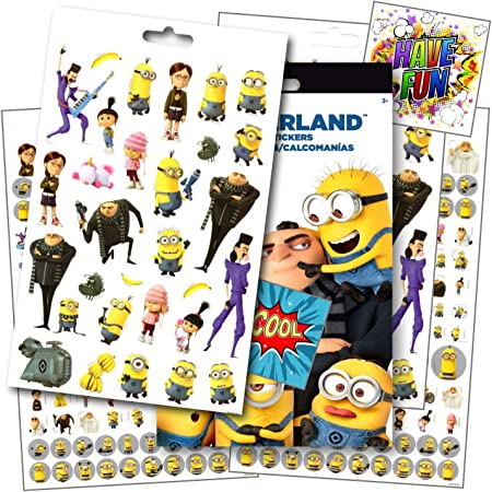Amazon.com: Despicable Me 3 Stickers - Over 295 Stickers Featuring Minions  & Favorite Despicable Me 3 Characters ~ Bundled With 2 Specialty Separately  Licensed GWW Reward Stickers: Toys & Games