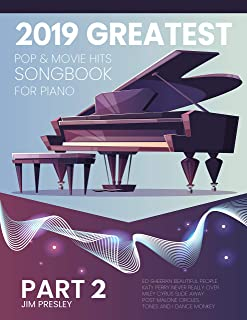 2019 GREATEST POP & MOVIE HITS SONGBOOK FOR PIANO PA