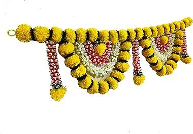 afarza choice good feel good Artificial Flower toran Garland for Home Door Decoration, for Main Door Hanging Diwali (Yellow)