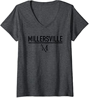 Womens Millersville University Marauders NCAA 95AMVC1 V-Neck T-Shirt