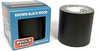 Match 'N Patch Realistic Repair Tape, Brown-Black Wood