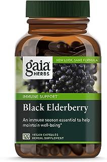 Gaia Herbs, Black Elderberry, Organic Sambucus Elderberry Extract for Daily Immune and Antioxidant Support, Vegan Powder C...