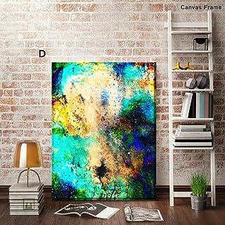 ABM Home - Marco grande de pared, estilo vintage, lienzo enmarcado, póster grande. Serie Abstracts, Canvas Frame, Design D