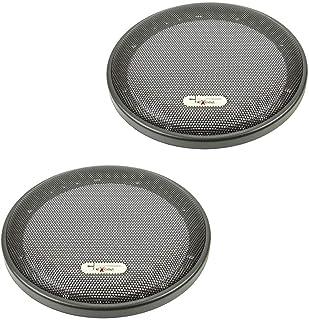 2 pezzi colore nero tomzz Audio/® 2800-005 Griglia di copertura per casse acustiche da 10,15 x 15,24 cm anello in plastica con griglia in metallo