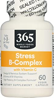365 by Whole Foods Market, Supplements - Vitamins, Stress B-Complex with Vitamin C, 60 Count