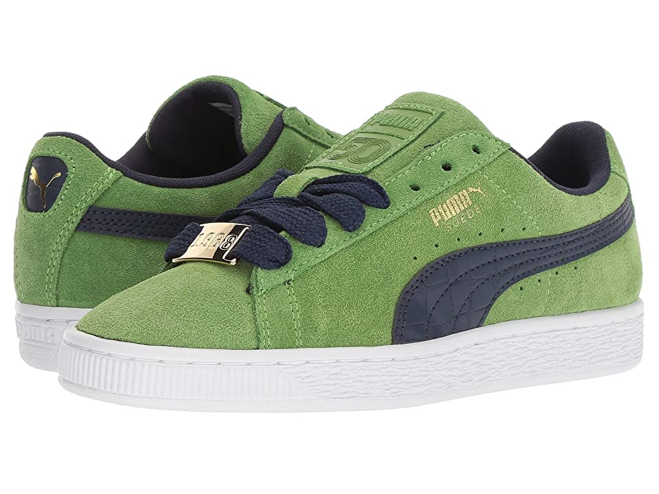 Puma Kids Suede Classic BBOY Fabulous (Big Kid) (Forest Green/Turkish Sea) Boys Shoes