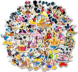 50pcs/Set Minnie Mickey unduplicated Mickey Mouse Kids Stickers Suitcase Character Stickers