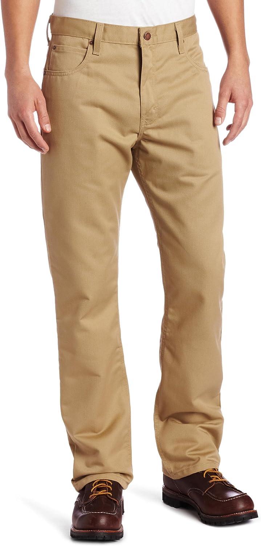 Dickies Men's Regular Straight-Fit Five-Pocket Ringspun Pant