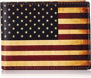 Mens Vintage USA Flag Bifold Wallet