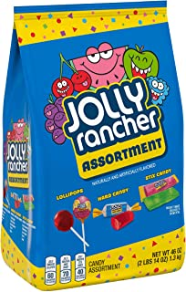 Jolly Rancher Assortment Candy, Sticks, Lollipops, Hard Candy, 46 Oz