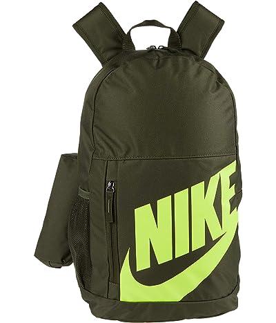 Nike Kids Elemental Backpack (Little Kids/Big Kids) (Cargo Khaki/Black/Volt) Backpack Bags