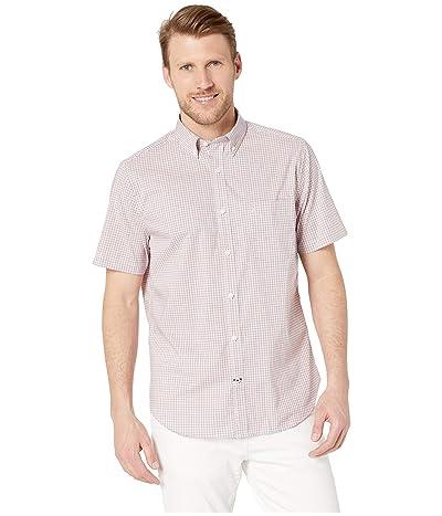 Nautica Wrinkle Resistant Poplin Plaid Shirt (Coral Sands) Men