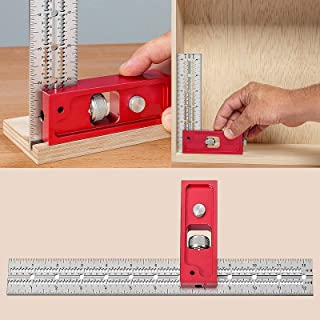 Combination and Double Square Woodworking Tools, Woodpecker Combination Square, Angle Protractor Woodworking Tools Square,...