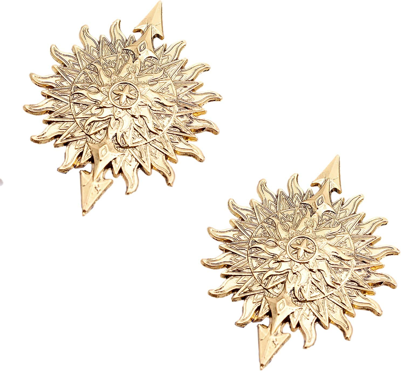 Men and Women Lapel Pin/Shirt Stud Golden Badge Coat Suit Wedding Gift Party Shirt Collar Accessories Brooch,2 Packs