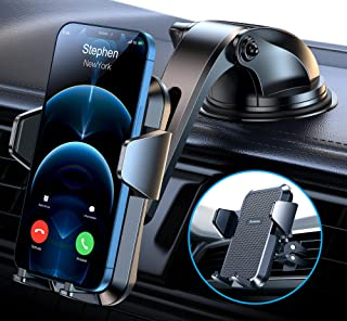 Sturdy Dash Car Phone Holder with Upgraded Strong Suction...