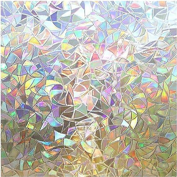 gem sticker with fractured rainbow light
