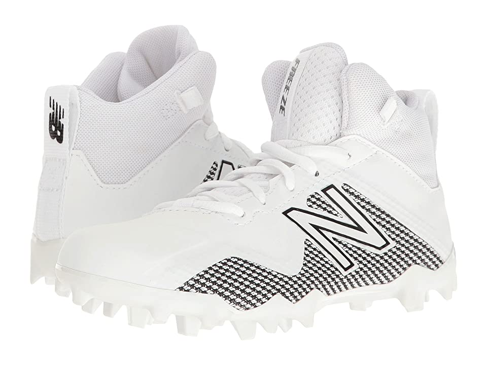 New Balance Kids Freeze LX Jr Cleat (Little Kid/Big Kid) (White/Black) Boys Shoes