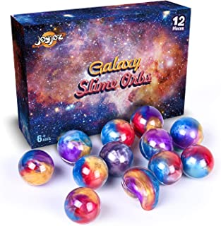 Joyjoz 12Pcs Fun Toys and Party Favors Galaxy Putty Slime Balls, Fluffy and Stretchy Slime balls for Girls & Boys, Non-Sticky, Stress Relief,Soft & Squishy