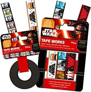 Disney Star Wars Tape Set ~ 4 Pack Star Wars: The Force Awakens Masking Tape for Gift Wrap, Arts & Crafts, Scrapbook, and More (Star Wars Arts and Crafts)