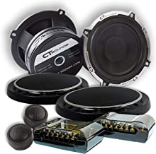 CT Sounds 5.25 Inch Component Speaker Set - 4 Ohm Impedance, 1.4'' Voice Coil, 2 Way Full Range, Crossovers, Tweeter Mounting Pods, 200W (MAX) System Power, 25mm Silk DomeTweeters - Meso 5.25 2 Way