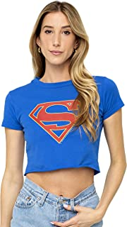 Supergirl TV Series Logo Superman Juniors Teen Girls Crop Top T Shirt & Stickers