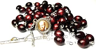 Relic Rosary 3rd Class of Saint Francis de Sales patron of Baker, Oregon; Cincinnati, Ohio; Catholic press; Columbus, Ohio; confessors; deaf people; South Africa Francisco de Sales (Cherry)