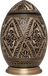 Black and Gold Cremation Urn by Liliane Memorials - Urns for Human Ashes Remains - Brass - Suitable for Funeral Cemetery B...