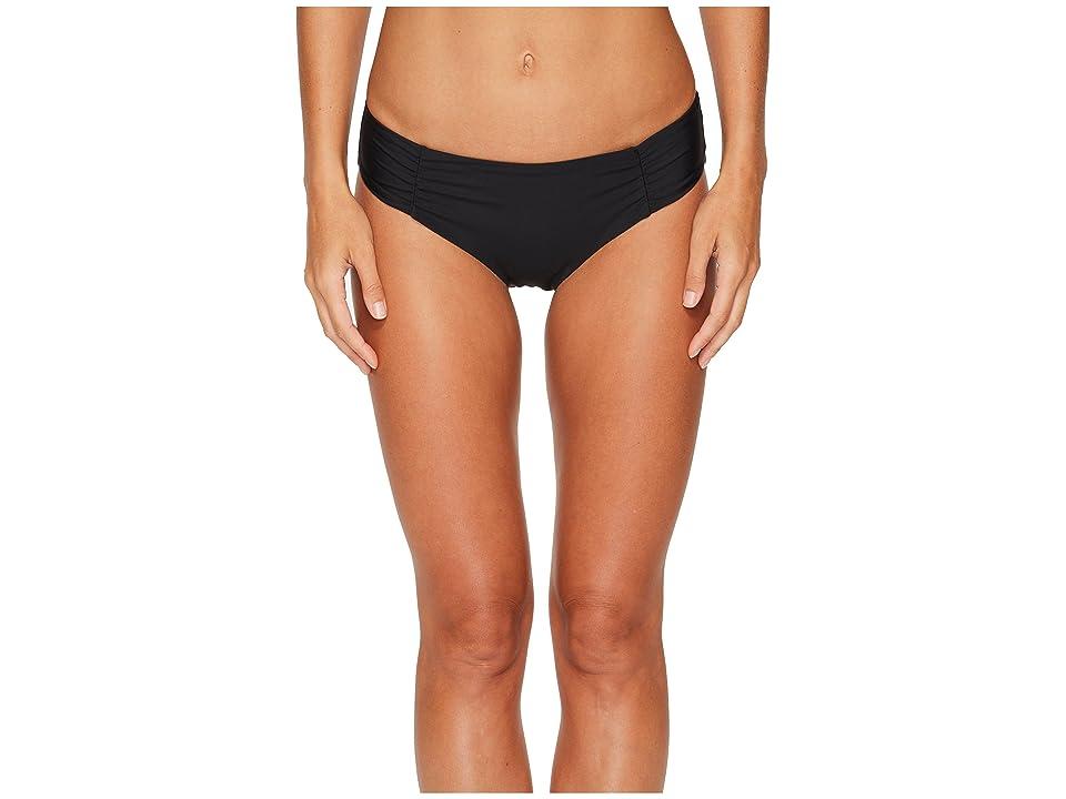 Athena Hey There Stud Shirred Side Hipster Bikini Bottom (Black) Women
