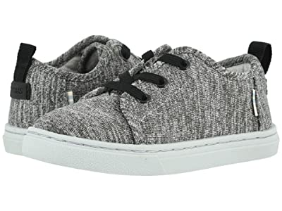 TOMS Kids Lenny Elastic (Toddler/Little Kid) (Black Repreve Melange Knit) Kid