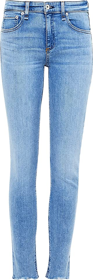 Rag and Bone Women's Cate Mid-Rise Ankle Skinny Jeans Light Blue