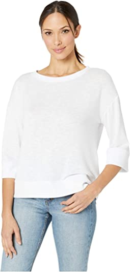 Soft Hatchi 3/4 Sleeve Boat Neck Top