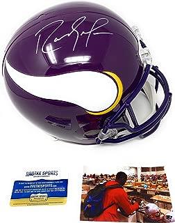 Randy Moss Minnesota Vikings Signed Autograph Throwback Full Size Replica Helmet Certified