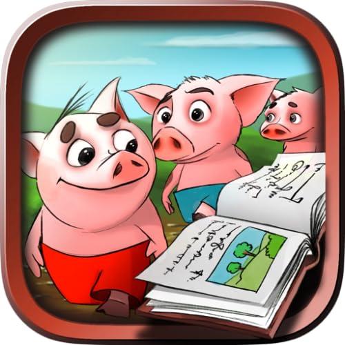 Trois petits cochons - Contes et livre interactif