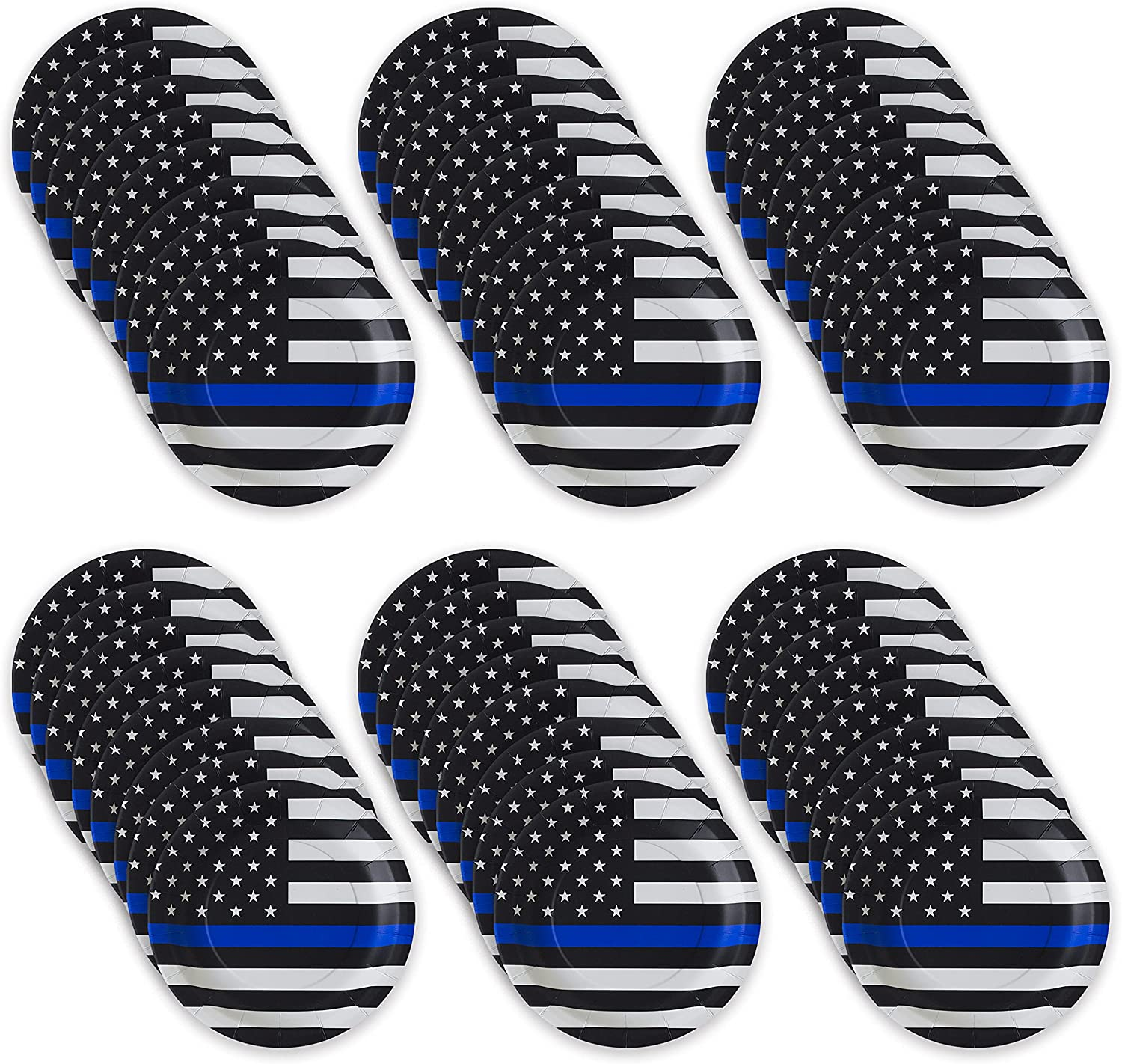 """Havercamp Police-Thin Blue Line 9"""" pack Ranking TOP12 Plates Lg. 48 Max 63% OFF"""