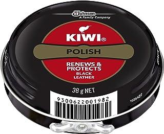KIWI Polish, Renews & Protects Leather Shoes, Black, 38 g