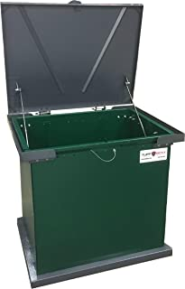 TuffBoxx Bruin Animal Resistant Storage Solution (Green/Charcoal Color), Keeps Bears and Animals Out of Garbage and Trash, Holds 4 Trash Bags