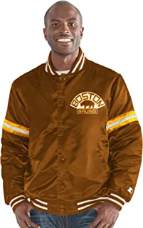 Starter Adult Men Legecy Retro Satin Jacket, Brown, Medium