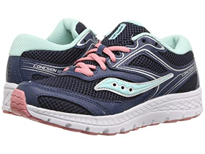 Saucony Kids Cohesion 12 LTT (Little Kid/Big Kid) (Navy/Turquoise) Girls Shoes